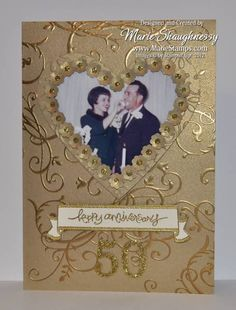 Golden Anniversary Card by Card Shark - Cards and Paper Crafts at Splitcoaststampers