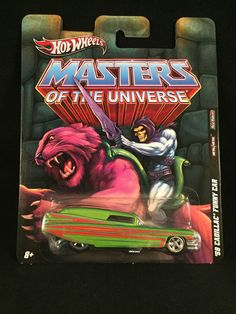 2011 Hot Wheels Nostalgia Masters of the Universe 59 CADILLAC FUNNY CAR He Man #HotWheels #Cadillac