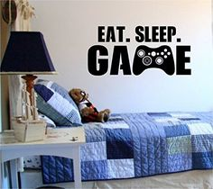Eat Sleep Game Version 101 Gamer Video Game Decal Sticker Wall Boy Girl Teen Child Sport Fight Dabbledown http://www.amazon.com/dp/B01BM78A6A/ref=cm_sw_r_pi_dp_WUH6wb1QW29XN