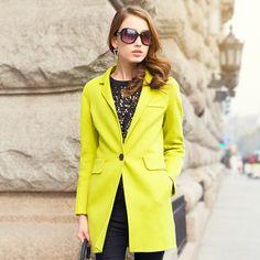 2015 spring new high-end handmade wool fleece coat female woolen jacket USD$362.50