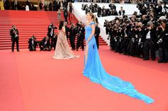 Pin for Later: You Can Tell This Is Blake Lively's Favorite Cannes Gown Just From the Way She's Working It She Let Her Gown Trail Behind Her