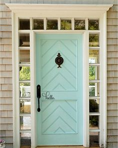 {via My Chic My Way} Entry doors offer guests the first glimpses of your aesthetic. They set the tone for what's in store once they step through the doors. But exterior doors don't have… House Colors, House Design, New Homes, Exterior Design, Beautiful Doors, House, Front Door, Doors, House Exterior