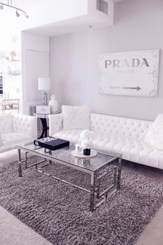 Blondie in the City | 4 Reasons Why Your Home Needs A Leaner Mirror @ZGallerie | Home Decor, black and white home decor, black and white living room, white living room