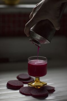 A refreshing ginger mandarin beet cocktail made with beet-infused vodka and ginger mandarin simple syrup