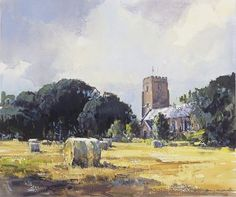 Ray Balkwill Watercolor Landscape, Watercolour Painting, Landscape Paintings, Watercolors, Landscapes, The Artist Magazine, Cotswold Villages, Great Works Of Art, International Artist