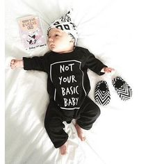 006062046845 Not Your Basic Baby Romper. Jumpsuit OutfitBaby Boy NewbornBaby GirlsBaby  ...