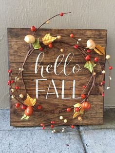 A personal favorite from my Etsy shop https://www.etsy.com/listing/469141790/rustic-fall-wood-pallet-sign-w-berry