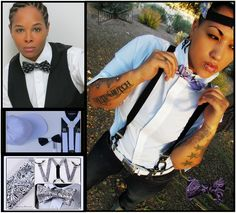 Our bow tie and suspender collection is second to none! Visit the #HAUTEBUTCH online store http://www.hautebutch.com/hbshop Embrace The Brand That Embraces You #androgynous #fashion