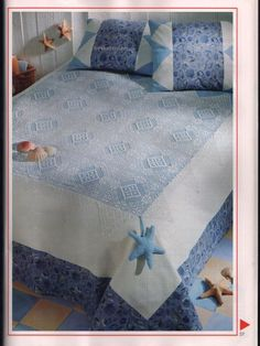 Bedspread with diatgram, click on the images to enlarge