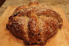 """Type of Greek bread, especially baked for Christmas, called """"Christopsomo"""" Christmas Day Lunch, Greek Christmas, Christmas Baking, Christmas Holidays, Christmas Cakes, Christmas Recipes, Greek Sweets, Greek Desserts, Greek Recipes"""