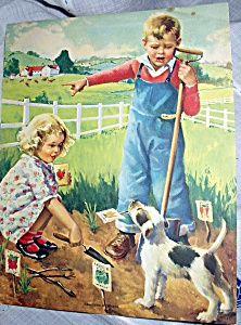 Kids Planting Garden  1920's