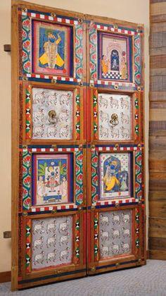 Trendy home decored diy living room shades ideas Pooja Room Door Design, Door Design Interior, Room Interior, Indian Home Interior, Indian Interiors, Ethnic Home Decor, Indian Home Decor, Indian Room, Traditional Front Doors
