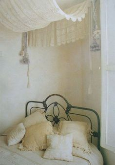 diy canopy bed curtains - Google Search