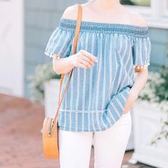 Cathy (@poorlittleitgirl) • Instagram photos and videos Off Shoulder Blouse, Off The Shoulder, Spring Tops, 21st, Stripes, Photo And Video, Videos, Photos, Shopping