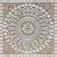 Style Selections Medallions Multi Colored Mosaic Travertine Floor Tile