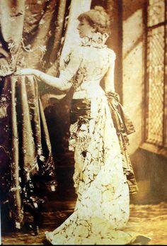 Famous actress Sarah Bernhardt, circa 1880.