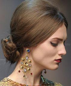 chignon hairstyles - bouffant chignon 2014