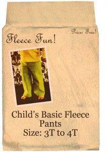 Childs basic Fleece Pants   free child pants patterns on www.fleecefun.com