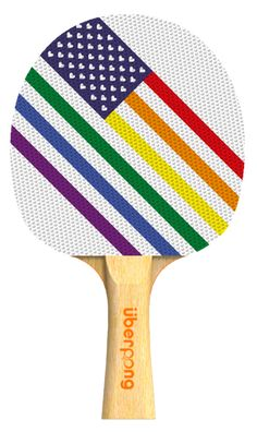 'Love Wins' Uberpong paddle. Only $30 here:  https://www.uberpong.com/designer-paddles/love-wins/ #pingpong #tabletennis