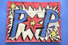 15 Trendy Pop Art Projects For Kids Comic Books Roman Photo, Pop Art, 6th Grade Art, Ecole Art, School Art Projects, Middle School Art, Art Lessons Elementary, Art Lesson Plans, Art Classroom