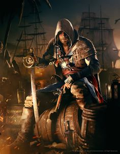 Beautiful Assassin's Creed IV: Black Flag wallpaper uploaded by Sykes - Edward Kenway Arte Assassins Creed, Assassins Creed Black Flag, Gaara, Assassin's Creed Edward Kenway, Geeks, Assasins Cred, Assassin's Creed Wallpaper, Hd Wallpaper, Wallpapers