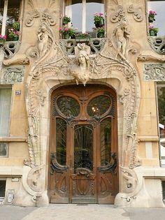 Beautiful ART DECO entryway in Paris. Photo by bubblehex08 as seen via RedBubble