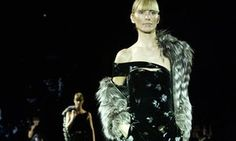 A Giorgio Armani ensemble on the catwalk.