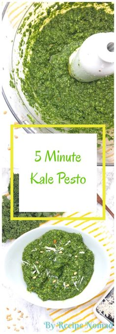 5 Minute Kale Pesto | Recipe Nomad