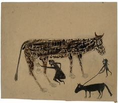Bill Taylor - Untitled (Milking) - Art Brut