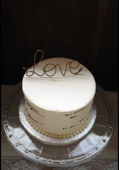 Cake topper rental: $10 Glass cake platter rental: $15