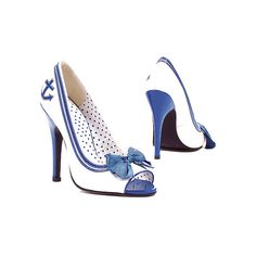 """Hi, I want you. Thanks.    Ellie Shoes 511-Anchor Sexy Pinup Sailor Girl Peep Toe Pumps with 5"""" Heel! found on Polyvore"""