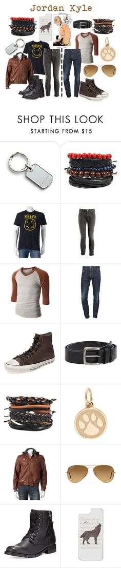 """""""Jordan Kyle"""" by aquatic-angel ❤ liked on Polyvore featuring Gucci, Dondup, Doublju, Dsquared2, Converse, MANGO MAN, Ray-Ban, Andrew Marc, Casetify and men's fashion"""