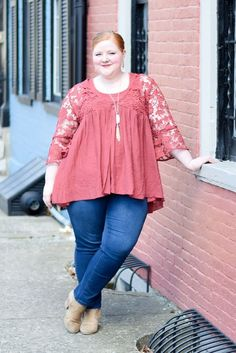 Lexington Style Diary: I planned a bohemian-chic wardrobewith a focus on denim, shades of pink/red/orange, statement sleeves, and lace.