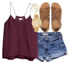 """""""its so hot out"""" by maryesterrr ❤ liked on Polyvore featuring Abercrombie & Fitch, Zara, H&M, Michael Kors and Kendra Scott"""