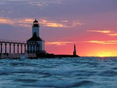 Michigan City East Pierhead Lighthouse, Indiana
