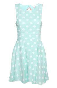 Kate Middleton - Duchess of Cambridge style: DailyLook Pale blue Open Back Polka Dot Dress