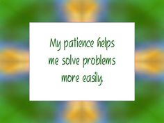 Daily Affirmation for January 20, 2013