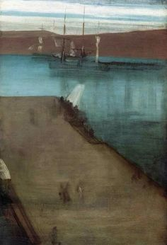 """Sketch for """"Nocturne in Blue and Gold: Valparaiso Bay"""". 1866. James Abbott McNeill Whistler"""