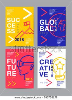 View top quality illustrations of Annual Report 2018 Future Business Template Layout Design Cover Book Vector Colorful Infographic Abstract Flat Background. Find premium, high-resolution illustrative art at Getty Images. Layout Design, Design De Configuration, Gfx Design, Font Design, Design Typography, Graphic Design Layouts, Graphic Design Posters, Brochure Design, Graphic Design Inspiration