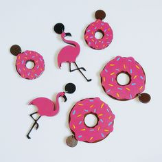 Brinco donut, Brinco de flamingo, brinco de banana, brinco disco, brinco de diamante, glitter, brinco divertido, Girlsgirls Acessórios, moda feminina, moda teen, bijuterias, jewels, moda alternativa, moda de subculturas, acessórios divertidos, brincos com glitter, chocker, tumblr girls,