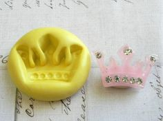 PRINCESS CROWN - Flexible Silicone Mold - Push Mold, Jewelry Mold, Polymer Clay Mold, Resin Mold, Craft Mold, Food Mold, PMC Mold