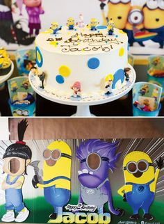 Despicable Me Themed Minion Birthday Party