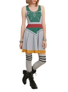 Star Wars Her Universe Boba Fett Dress. OMG OMG YES YES YES IVE BEEN WAITING FOR THIS AHHHHHHH
