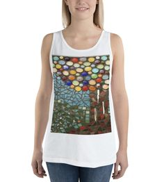 Purchase a tank top to support refugees in Uganda. With every purchase, a portion of the sales goes towards transforming these refugees into entrepreneurs. Available in multiple colors. Bizarre Art, Uganda, Online Printing, Tank Tops, Colors, Unique, How To Make, Stuff To Buy, Design