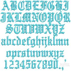 """Gothic 3D Puff Embroidery Font Size: 1"""" , 1.5"""" and 2"""""""