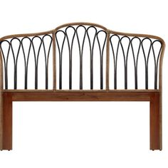 #Rattan #Headboard with #Wood admired by our rattan...   Wicker Blog  wickerparadise.com