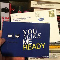 """denglisch - """"Du machst mich fertig"""" - sende diese weltweit mit der kostenlosen MyPostcard App - #mypostcard #denglisch #grußkarte"""