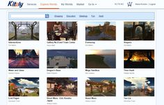 Some of the featured destinations on the Kitely grid.