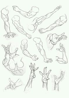 Well, this was 90 minutes of work. Trying to suss out anatomy and foreshortening is not as easy as I was hoping. It's difficult to explain but drawing comic art/anatomy isn't the same as dr. Arm Drawing, Hand Drawing Reference, Anatomy Drawing, Anatomy Reference, Drawing Poses, Manga Drawing, Figure Drawing, Drawing Sketches, Art Reference