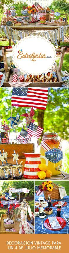 Cada 4 de julio desde 1776 los estadounidenses festejan su independencia del gobierno inglés realizando una celebración que reúne a familiares y amigos, quienes expresan su fervor patriótico a través de un exclusivo picnic o barbacoa, ocasión que tiene como principales protagonistas a los grandes iconos americanos como; estrellas blancas y tradicionales águilas.